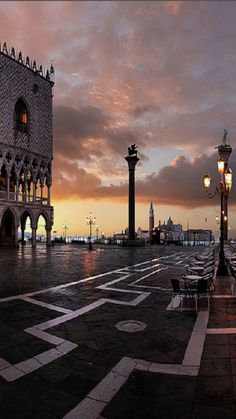 Venice at sunset...to the right is a geleteria..with the best gelato in Italy!!!