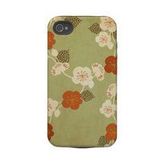 Vintage sakura Case-Mate Case Iphone 4 Tough Case by Cocoon