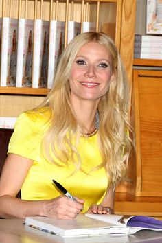 Gwyneth Paltrow at book signing for new cookbook