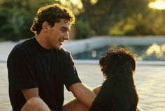 Ayrton Senna & dog