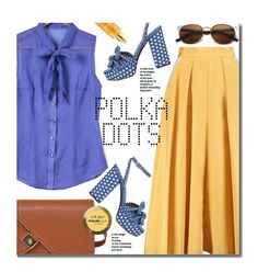 """So Dotty: Polka Dots"" by beebeely-look ❤ liked on Polyvore featuring Roksanda, Tabitha Simmons, Miriam Quevedo, Charlotte Russe, WorkWear, PolkaDots, bows, sammydress and MyPowerLook"