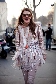 Anna dello Russo wearing a necklace by Zini London Fashion Weeks, Fashion Week Paris, High Fashion, Womens Fashion, Anna Dello Russo, Haute Couture Style, Modell Street-style, New Years Eve Outfits, Street Chic