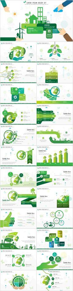 25+ Green chart slides PowerPoint Templates