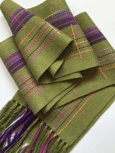 Spring is a great time to freshen up your wardrobe, and add some color! The perfect scarf to wear with a sweater, blouse, dress, or my personal favorite a tee shirt and jeans : ) Measures approximately 6 x 62 plus fringe. I have handwoven this scarf with bamboo and rayon thread, in a