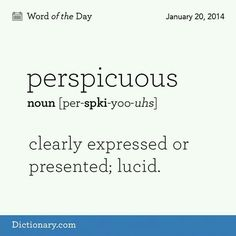 Perspicuous