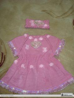 Pembe renkli örgü elbiseler