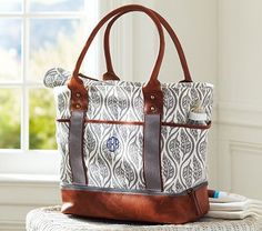 Feather Wave Sausalito Diaper Bag #pbkids