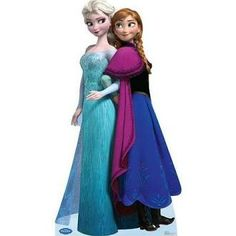 Can hardly believe this is a life-sized cut out.  Um... Advanced Graphics 1575 Elsa and Anna - Disney's Frozen