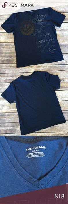 ❗️CLEARANCE ❗️Men's DKNY V Neck Tee Men's DKNY V Neck Graphic tee size XS DKNY Shirts Tees - Short Sleeve