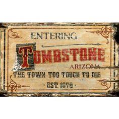 Western Arizona Vintage Sign - Custom Vintage Signs