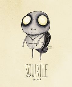 Tim Burton Style Pokémon - Squirtle.  I am getting this tattooed on my body!!!