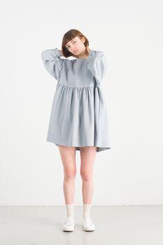 Simple Babydoll Dress, Blue