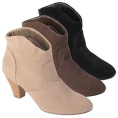 @Overstock - Update your outfit with these western-inspired 'Pippa' booties by Journee Collection. These faux suede ankle boots feature tapered heels, almond toes, an easy pull-on style and fashionable topstitching.http://www.overstock.com/Clothing-Shoes/Journee-Collection-Womens-Pippa-Topstiched-High-Heel-Booties/7296061/product.html?CID=214117 $29.90