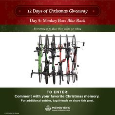 12 Days of Christmas Giveaway Day 5: Monkey Bars Bike Rack!   Enter to win on our Facebook page today!