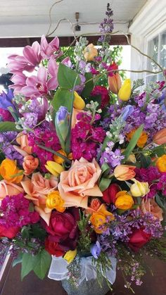 Photo - Google+ All Flowers, Colorful Flowers, Floral Wreath, Heaven, Wreaths, Link, Google, Crafts, House