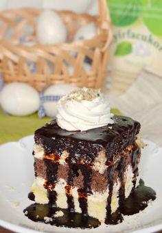 Citromhab: Somlói kocka - kevesebb kalóriával Sponge Cake Recipes, Hungarian Recipes, New Recipes, Tiramisu, Lemon, Sweets, Baking, Ethnic Recipes, Northern Exposure