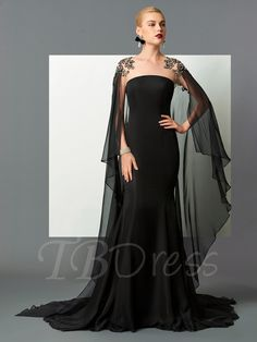 Tbdress.com offers high quality Scoop Mermaid Beading Lace Watteau Train Evening Dress Designer Dresses unit price of $ 138.69.