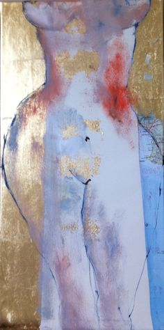 n°12  oil,gold leaf, map paper on canvas  40cmx80cm  for sale on www.cassandrawain...