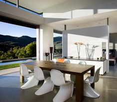 Contemporary Dining Room Sets with Classic Panton hairs