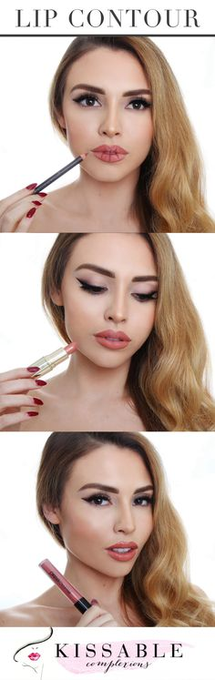 Fake bigger lips with lip contouring!