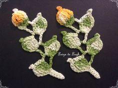 Ramo com folhas e flor - Tutorial completo