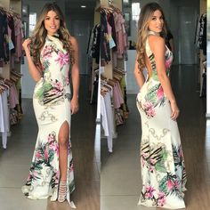 Slit Dress, Belted Dress, Dress Skirt, Trendy Fashion, Fashion Looks, Western Dresses, Flower Fashion, Evening Dresses, Party Dress