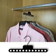 Sideway clothes hanger