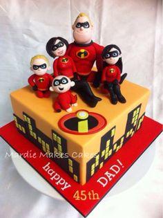 Splendid Disney Incredibles Birthday Cake made by Mardie Makes Cakes Disney Incredibles, Incredibles Birthday Party, Fancy Cakes, Cute Cakes, Fondant Cakes, Cupcake Cakes, Movie Cakes, Superhero Cake, Character Cakes