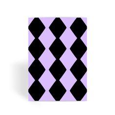 Purple Diamond Stripes Greeting Card