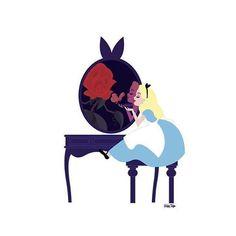 Disney Vanity Series by Ashley Taylor Alice in Wonderland
