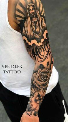 Forarm Tattoos, Forearm Sleeve Tattoos, Chicano Tattoos, Best Sleeve Tattoos, Dope Tattoos, Tattoo Sleeve Designs, Body Art Tattoos, Zues Tattoo, Jesus Tattoo