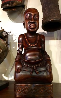 """African Tribal Elder """"In Trance"""" On Sale  Kuba People, Congo  16"""" High x 6.5"""" Wide x 4.5"""" Deep   Was $395 Sale Price $158  Tribal Art and Accessories  Dealer #135  @ Lost. . .Antiques 120"""