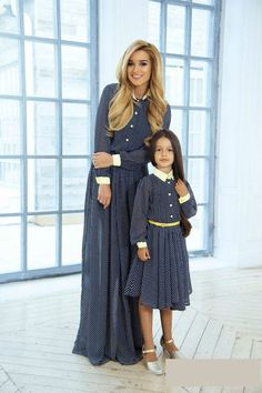 Mother and daughter dress match