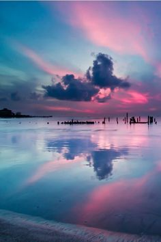 Cotton candy color sunsets. Nature can be so beautiful sometimes. Look at the colours.