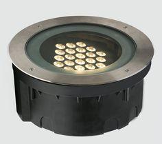 Luminaire encastrable au sol  LED rond d extérieur ARC