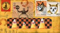 Art postal Halloween carte postale