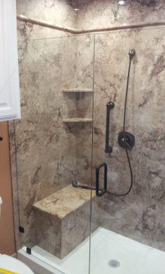 One Large Slab For Shower Walls Instead Of Tile Hoffman
