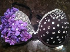 Purple Nightshade Rave Bra by FlowerChildRaveBras on Etsy, $30.00