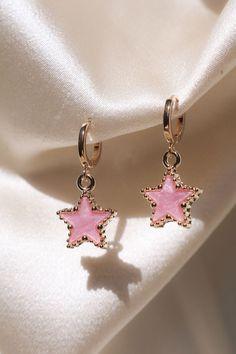 Pink Pop Star Earrings - Pink Pop Star Earrings – Chvker Jewelry Pink Pop Star Earrings – Chvker Jewelry Pink Pop Star E - Ear Jewelry, Cute Jewelry, Jewelry Accessories, Jewelry Design, Jewlery, Pink Jewelry, Fashion Accessories, Jewelry Box, Jewelry Ideas