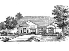 Mediterranean House Plan with 3452 Square Feet and 4 Bedrooms from Dream Home Source   House Plan Code DHSW05609