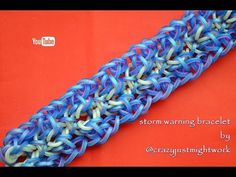 STORM WARNING BRACELET HOOK ONLY DESIGN TUTORIAL - YouTube Rainbow Loom Bands, Rainbow Loom Bracelets, Rubber Band Crafts, Rubber Bands, Loom Craft, Rubber Band Bracelet, Bracelet Tutorial, Design Tutorials, Crochet