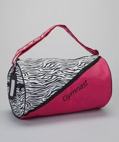 Hot Pink Zebra Roll Duffel by Aerials by Alpha Factor on #zulily today!