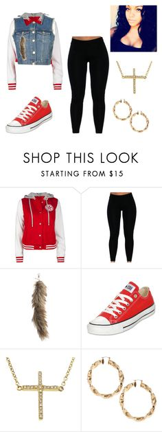 """My States Side Life"" by flawlesssqueen ❤ liked on Polyvore featuring мода, Topshop, Converse, Jennifer Meyer Jewelry и ASOS"