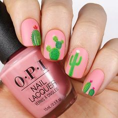 I live in Arizona. Its hot. Theres a lot of cacti. So here you go Base color is @opi Pink Ladies Rule The School Tutorial coming soon as always Checkout my custom press-on nail shop @cambriacustomnails and request a custom set if you want some for yourself #nailsartvideos #nailsartclips #nailartclips #nailartvideos #nailsvideo #nailsvideos #nailvideos #nailsart #nail #nails #nailart #ignails #instanails #nailarttutorial #nailpolishtorial #hudabeauty #nailsclip #nailsbycambria #summer #cactus…