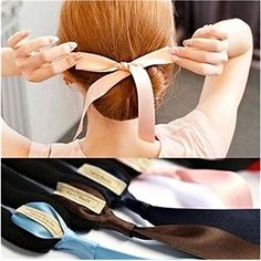 4Pcs Elegant Ribbon Magic French Twist Bun Maker Clip Hook Holder Magic Roll Rings Donut Updo Chignon Former Pads Foam Sponge Hair Styler Curler Braid Ponytail Stick Hairstyle Styling Tool Accessories -- To view further for this item, visit the image link.