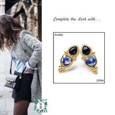 Ref: LP006 Azulejo Medidas: 2.4 cm x 1 cm So Oh: 3.99 🌱 #sooh_store #onlinestore #style #inspiration #styleinspiration #brincos #earrings #fashion #shoponline #aw2016 #aw1617 #winterstyle