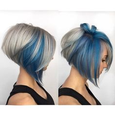 67 Hair Highlights Ideas, Highlight Types, and Products Explained Haircut And Color, Cool Hair Color, Hair Colour, Hair Highlights, Grey Hair With Blue Highlights, Grey Hair With Purple, Blonde And Blue Hair, Great Hair, Hair Looks