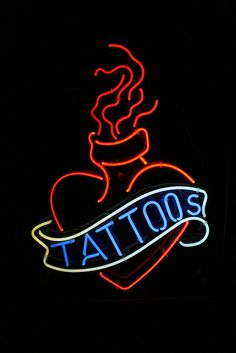 'TATTOOS' -NEON SIGN ๑෴MustBaSign෴๑