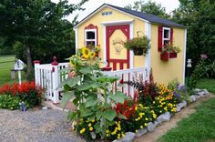 Christy's plant-lover's garden   For a cottage garden, you need a cottage! Christy and her husband built it themselves.