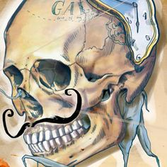 """Me ha encantado los trabajos de la ilustradora de Kazajistán Mimi Ilnitskaya. Y es que cuando pasas horas delante del ordenador y te duele el dedo de """"scrolear"""" por tumblr, no hay nada más reconfortante que encontrar un trabajo que te sorprenda. Quiero hacer mención especial al set de ilustraciones de personajes famosos como Salvador Dalí, van Gogh o Andy Warhol entre otros representados por sus cráneos, una gozada."""